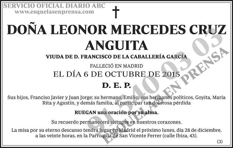 Leonor Mercedes Cruz Anguita